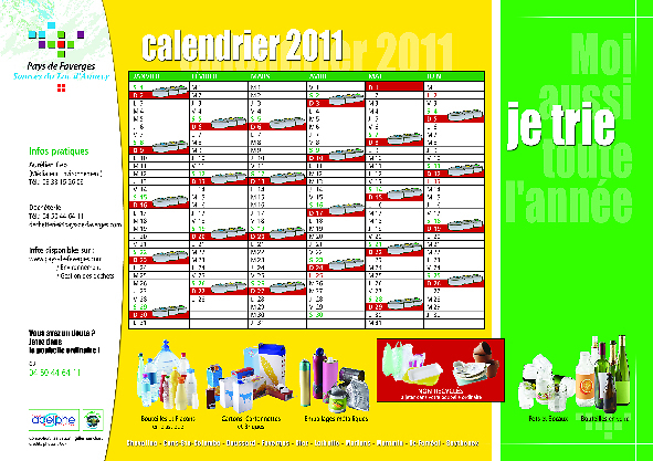Gilles Hamchart Communication - Calendrier recto-verso cartonné 42506