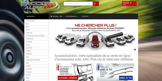 Mobiloweb - Site e-commerce - vente accessoires auto 4x4 - SUV- Pick-up 74206