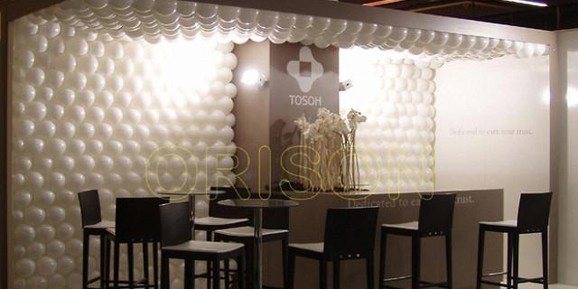 Orison - Décoration stand d'exposition - Mur et plafond de ballon 63760