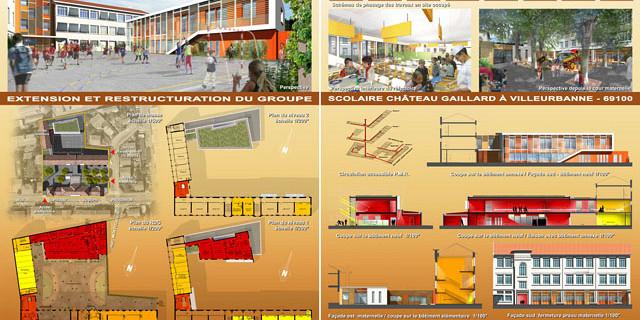 ArchiCréa - Panneau de concours A0-Couleurs - Architecture 65051