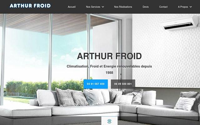 ASR - Création du site internet d'une entreprise de climatisation sur Marseille - ARTHUR FROID 81397