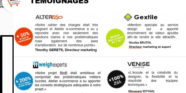 Atelier E Commerce - Témoignages Clients Magento 2 et Magento 1 76371