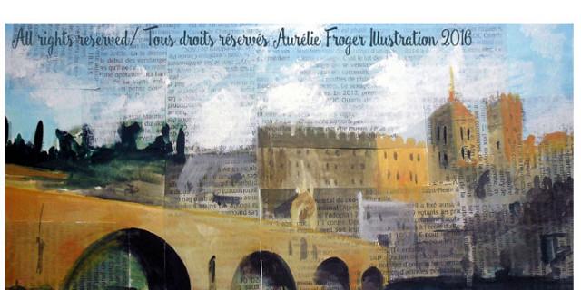 Aurélie Froger - Illustrateur, illustration carte postale d'Avignon 80980