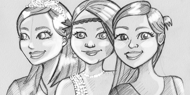 Christelle Histe - Portrait de trois femmes 79064