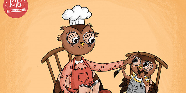 Christelle Histe - P'tit hibou et sa maman dans la cuisine 82761