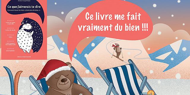 Christelle Histe - Visuel pour la promotion d'un livre version Hiver-ski 85448