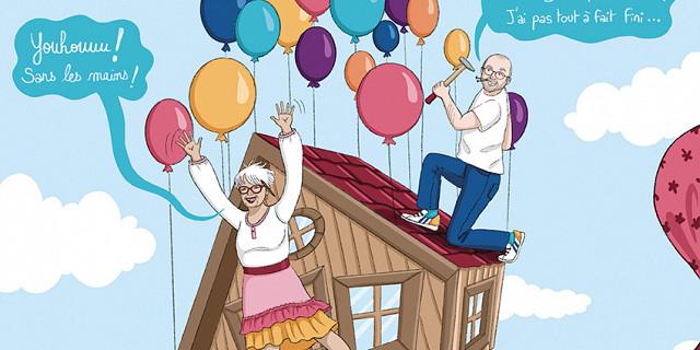 Christelle Histe - Illustration pour un couple de grand-parents 85994
