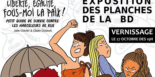 Claire Gosnon - Exposition des planches de la bande dessinée ''Liberté, égalité, fous-moi la paix !'' 76742