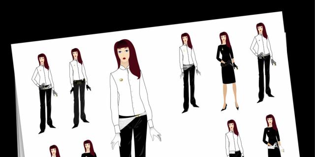 Claire Gosnon - Projet Dior - création de tenues (agence W Communication) 63421