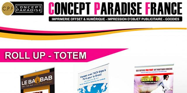 Concept Paradise France - roll up délai 24h 73529