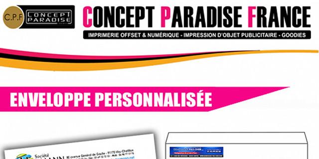 Concept Paradise France - IMPRESSION ENVELOPPES PERSONNALISEES 73532