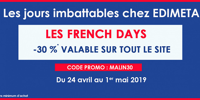 Edimeta - Préparez-vous, pour les French Days* c'est l'occasion de ré 79565