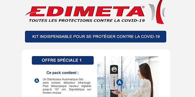 Edimeta - OFFRE SPÉCIALE PROTECTIONS COVID-19 86164