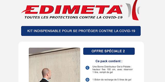 Edimeta - OFFRE SPÉCIALE PROTECTIONS COVID-19 86220