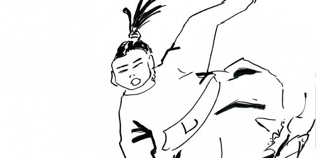 Hassiba Kessaci - japonais Edo Asie Tokyo illustration combat encre de chine 79711