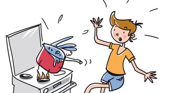 Illustrabank - Accident domestique. Auteur Bruno Belvezet 83085