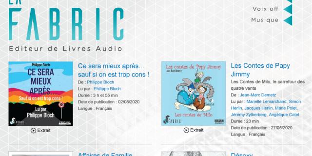 La Fabric - Département Livres Audio 84459