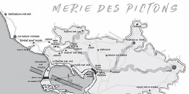 Magali AC graphisme - illustration cartographie roman noir/blanc graphiste Angers 80088