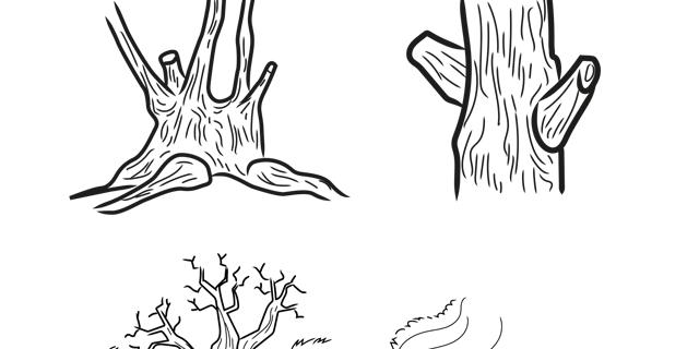 Magali AC illustration - Pictogrammes trait noir entretien berge syndicat rivière 74553