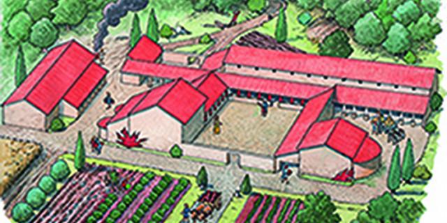 Marin'erran - reconstitution villa romaine 69433