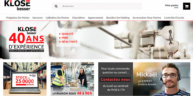 Netenvie - Création sous Prestashop du site e-commerce de Klose Besser 80358