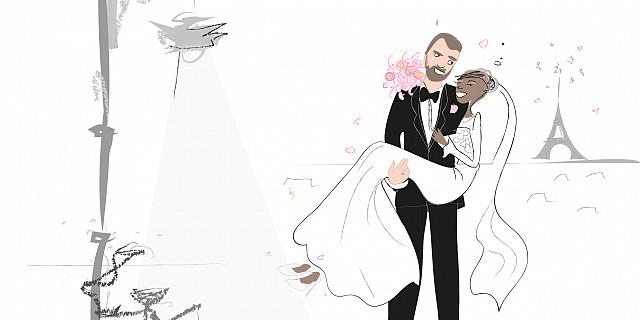 Séverine Exer - histoire des mariés pour diffusion plein écran au mariage 73375