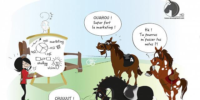 Séverine Exer - dessin thématique: marketing et conseil pour le milieu équin 73564