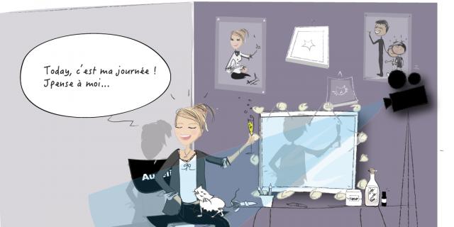Séverine Exer - Dessin humoristique la parisienne 74061