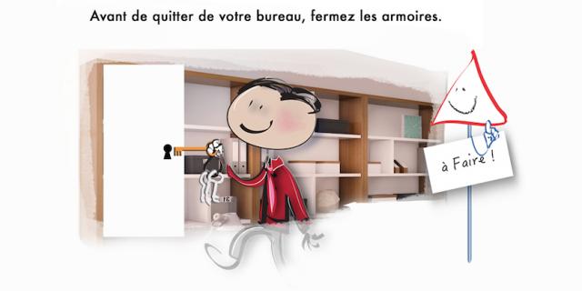 Séverine Exer - Série illustrations pour com interne entreprise. Siège banqu 74078