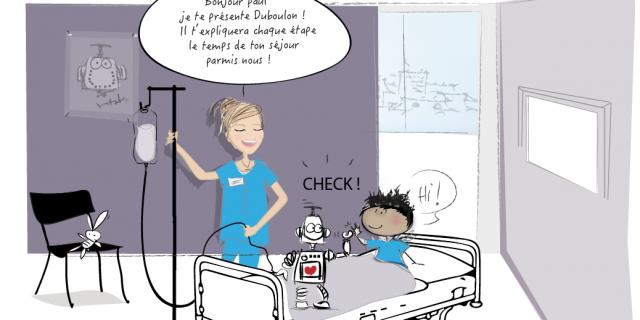 Séverine Exer - Extrait de bd pour le service de neurochirurgie de l'hôpital 74089