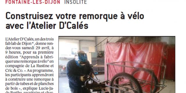 Star And Us Communication - Article Le bien Public : Atelier remorque à vélo 79669