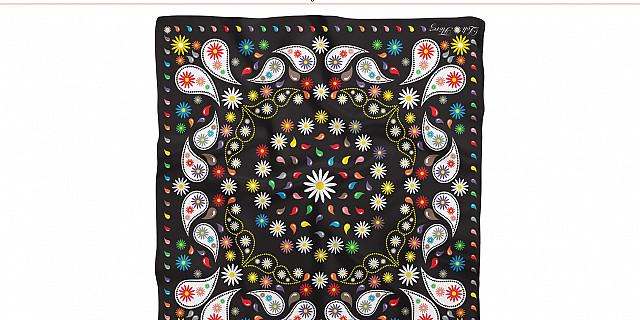 Sylvie Santelli - Création foulard pour la marque Loli Flõrez 77185