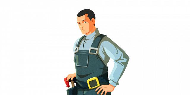 Vafgraphic - illustration flat design personnage artisan 84260