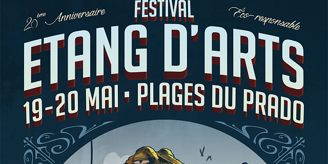 Vincent Dubos - Affiche festival Étang d'arts, Marseille 2018 74823
